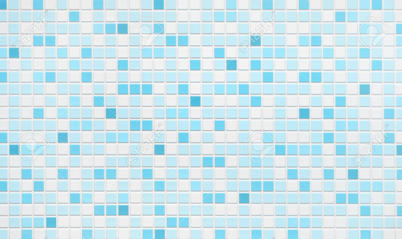 turquoise blue mosaic tiles texture or background bathroom wall
