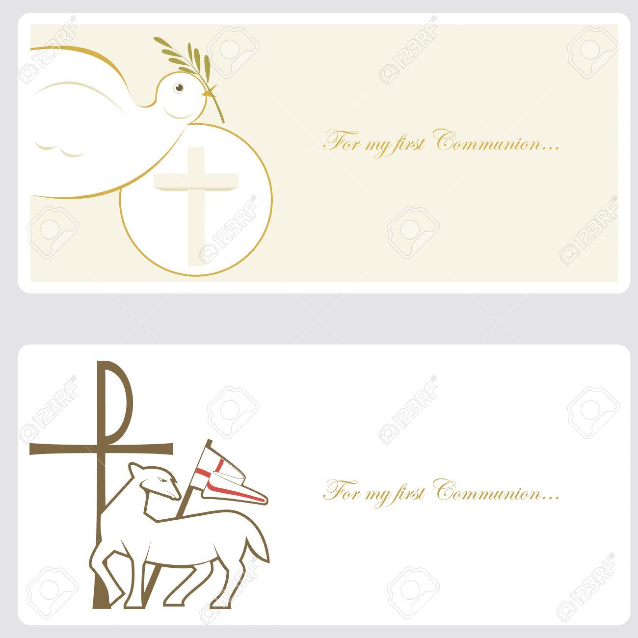 premiere communion ou de la carte d invitation confirmation