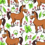 Horse Cartoon Drawing Seamless Pattern Vector Illustration Royalty Free Cliparts Vectors And Stock Illustration Image 114993081