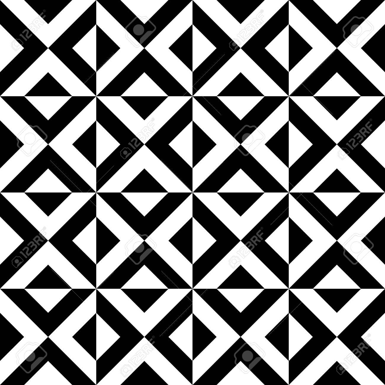 motifs geometriques arabes modeles sans couture de triangles decoratifs noir et blanc papier peint design d interieur texture extensible de