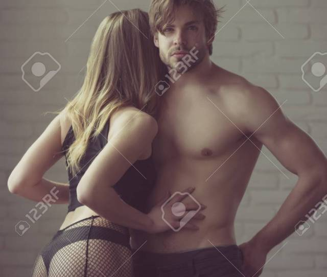 Sexy Fashion Romance Handsome Man With Naked Torso Six Packs Abs