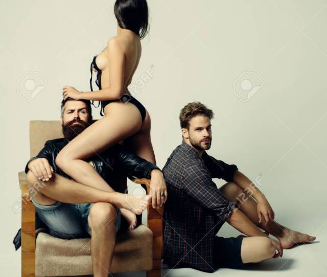 Passion And Sensual Couple In Love Romantic And Love Threesome Sensual Threesome