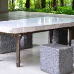 Gray Marble Table With Metal Leg And Marble Chair Stock Photo Picture And Royalty Free Image Image 74701047