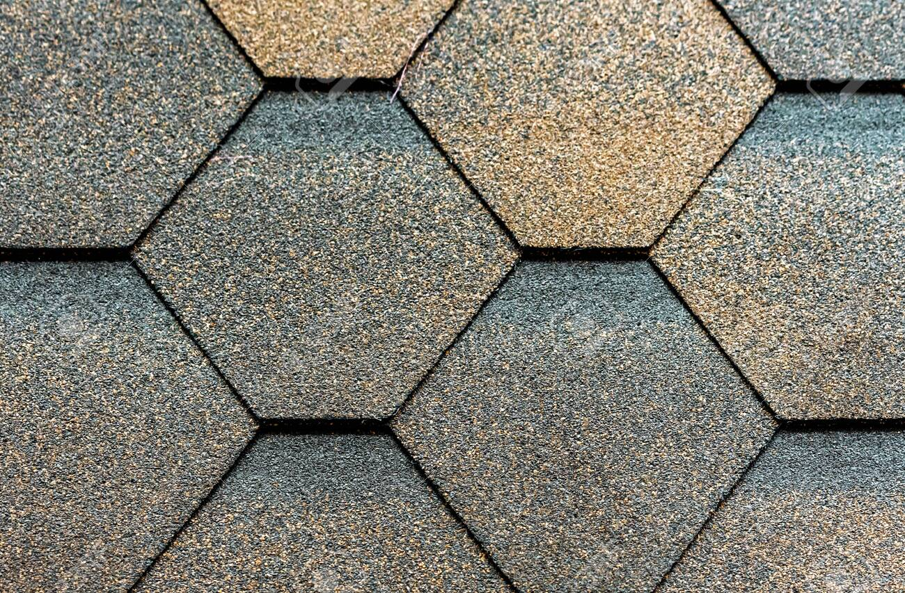 texture of flexible tiles for the roof flooring of the house