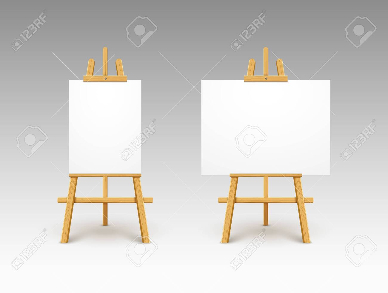 easel canvas stand vector board isolated wooden easel art painting