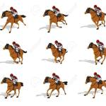Horse Run Cycle Animation Sheet Horse Race Silhouette Racecourse Royalty Free Cliparts Vectors And Stock Illustration Image 91249744