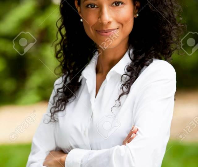 Mature Black Woman Smiling At The Camera Stock Photo 70257004