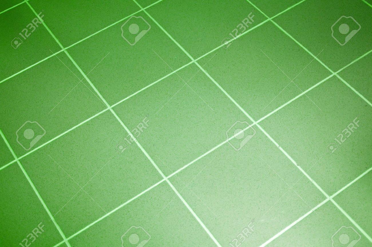 ceramic tile floor green color shallow dof