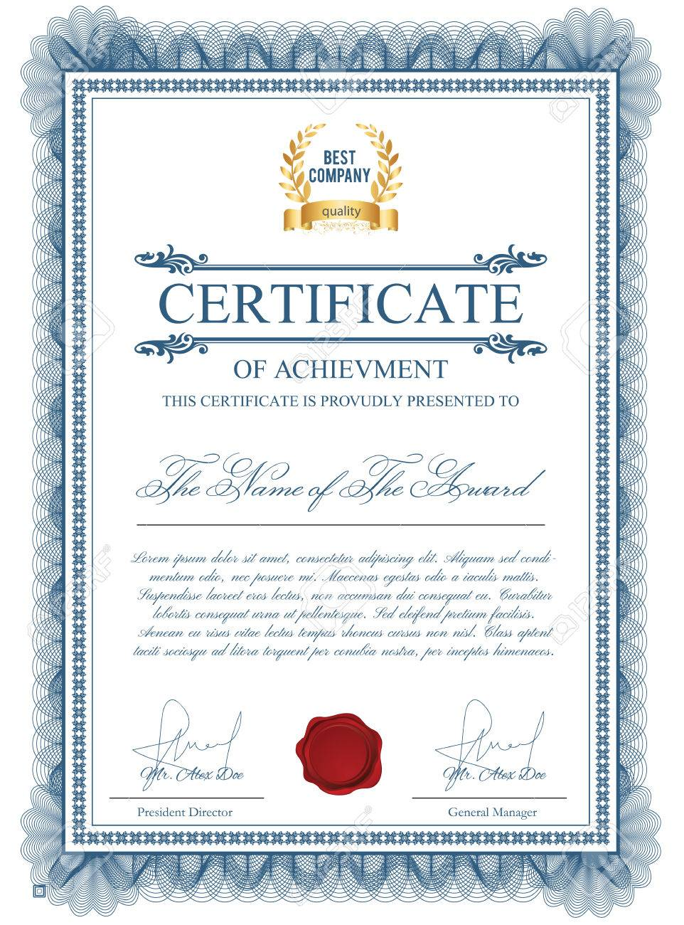 Achievement Award Certificate Template outstanding leadership – Examples of Award Certificates
