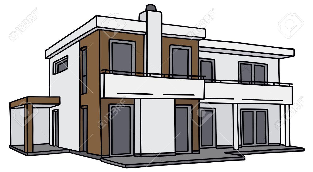 Hand Drawing Of A Modern Villa Royalty Free Cliparts Vectors And Stock Illustration Image 32169592