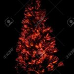 Abstract Red Light Christmas Tree On Black Stock Photo Picture And Royalty Free Image Image 3664867
