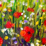 Red Poppies Flower Field Original Handmade Abstract Oil Painting Stock Photo Picture And Royalty Free Image Image 95286171