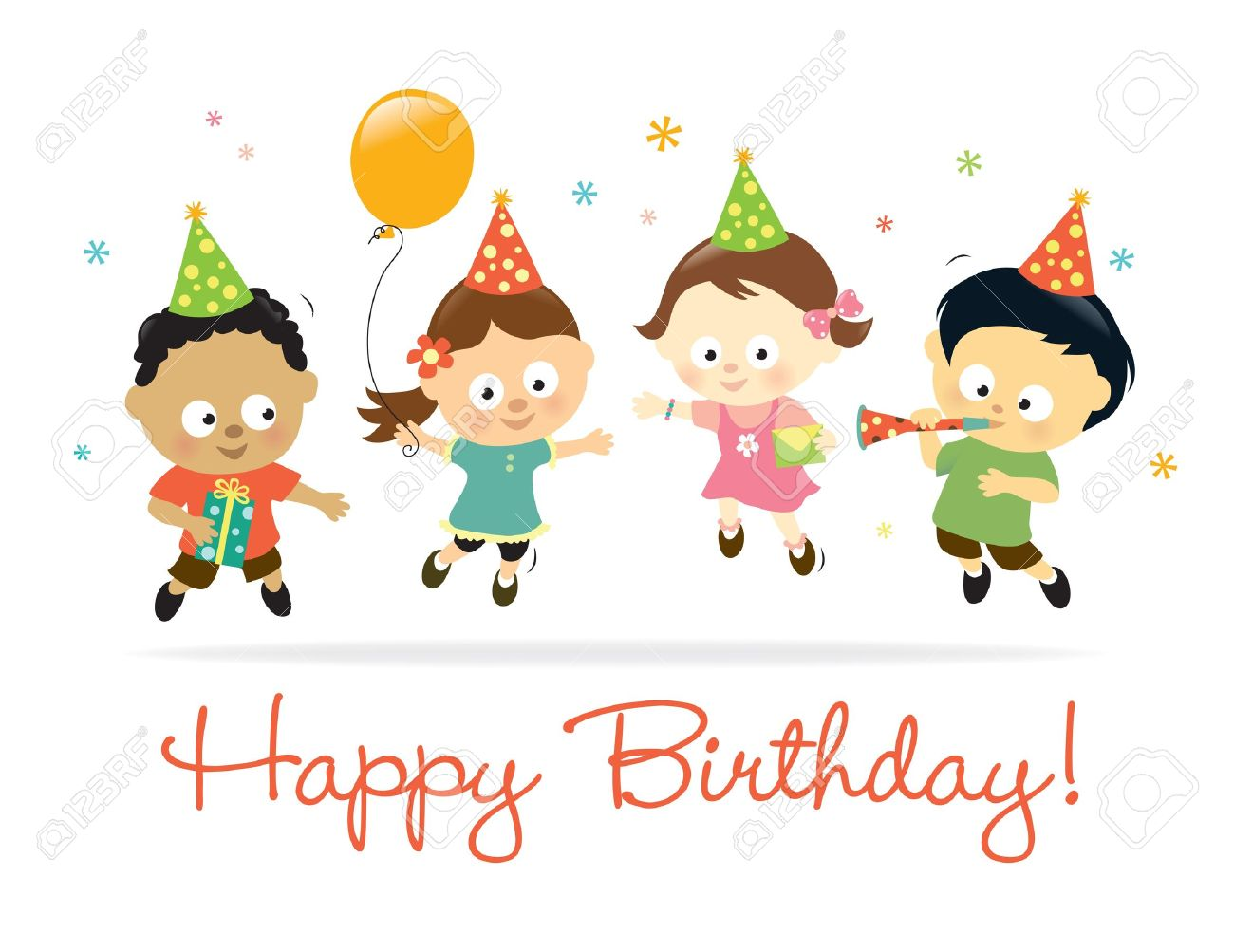 Happy Birthday Kids Royalty Free Cliparts Vectors And Stock Illustration Image 13078953