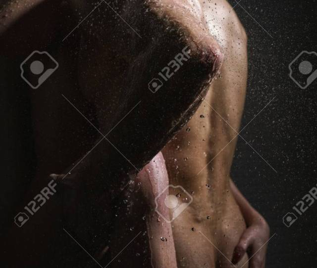 Passionate Couple Having Sex In Shower Studio Shot Stock Photo 81853893