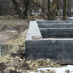 Shallow Concrete Foundation Stone For The Construction Of House Stock Photo Picture And Royalty Free Image Image 77500648