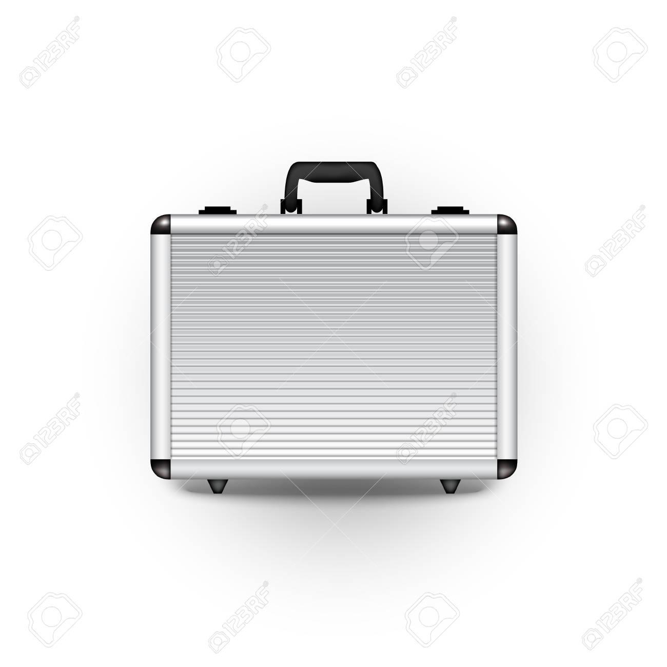 banque d images design finance objet de bureau mallette metallique vector