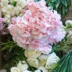 Pretty White And Pink Wedding Flowers Including Roses And Hydrangea Stock Photo Picture And Royalty Free Image Image 121084033