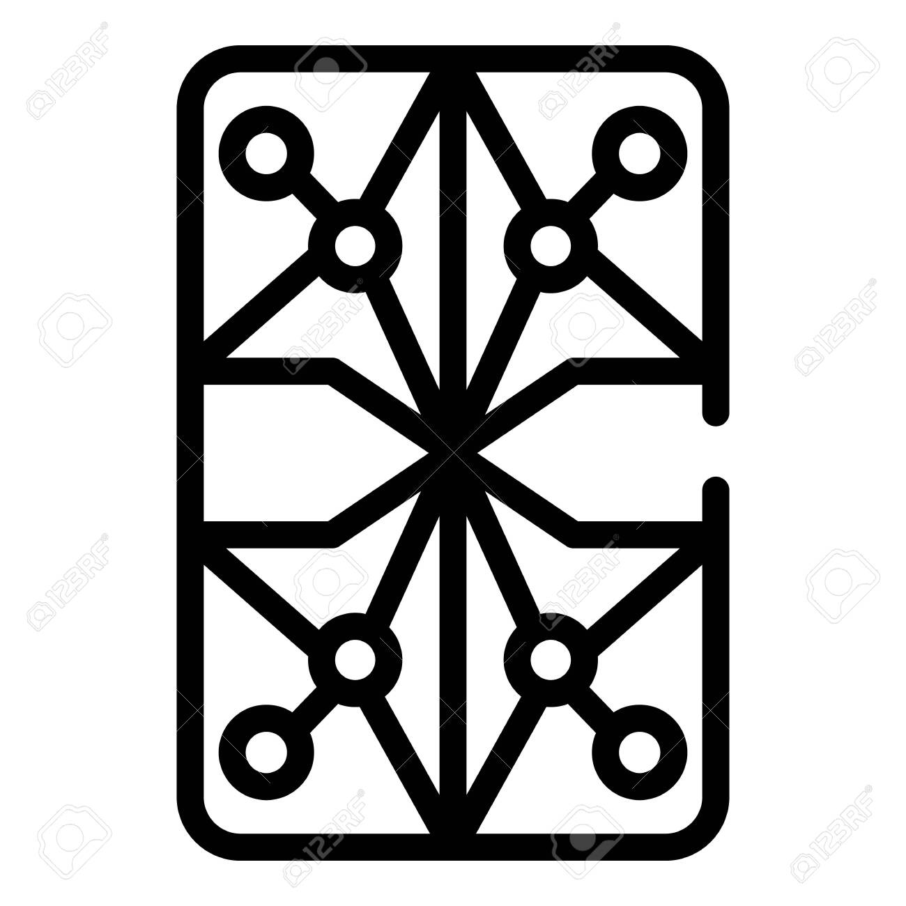 Persian Rug Icon Outline Style