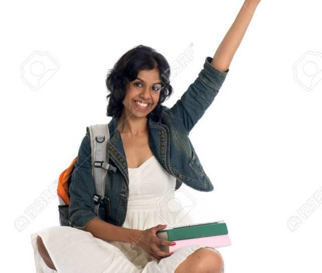 Indian Teenage College Girl Stock Photo 89335429