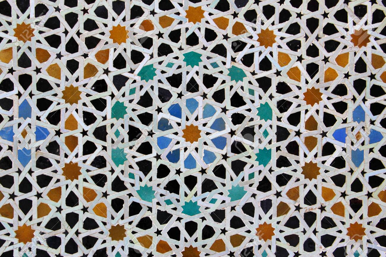 moroccan mosaic tile ceramic decoration of hassan ii mosque stock photo picture and royalty free image image 136020151