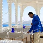 Morocco Tangier Tetouan Region Tangier Kasbah Nord Pinus Tanger Hotel Outdoor Restaurant Stock Photo Picture And Rights Managed Image Pic Hms Hem241888 Agefotostock