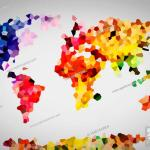 Low Poly Colorful World Map Perfect High Resolution Background Stock Photo Picture And Low Budget Royalty Free Image Pic Esy 026847249 Agefotostock
