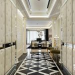 Hallway Of Elegant Home With Black And White Marble Flooring Stock Photo Picture And Rights Managed Image Pic Shl Lmg100272 015 Agefotostock