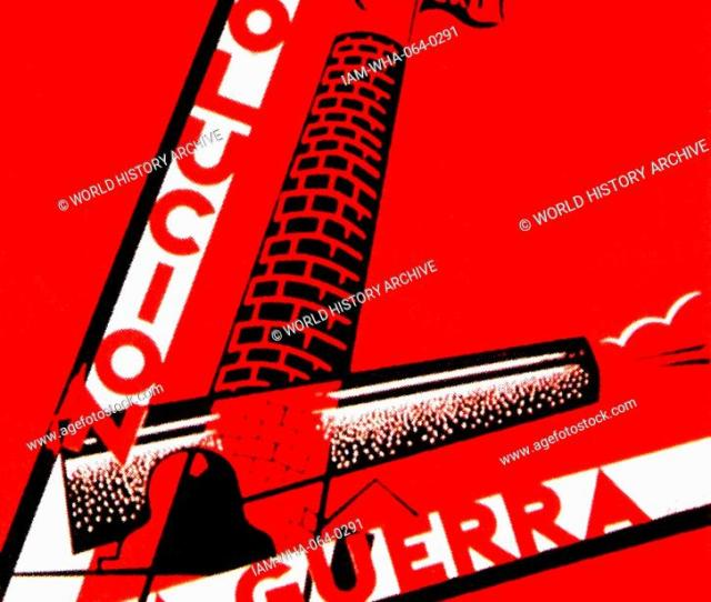 Stock Photo La Revolucion Y La Guerra Son Inseparables Revolution And War Are Inseparable Poster Edited By The Anarchist Cnt Fai During The Spanish