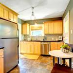 Small Kitchen Room With Maple Storage Cabinet Steel Dishwasher And Refrigerator Stock Photo Picture And Low Budget Royalty Free Image Pic Esy 028129683 Agefotostock