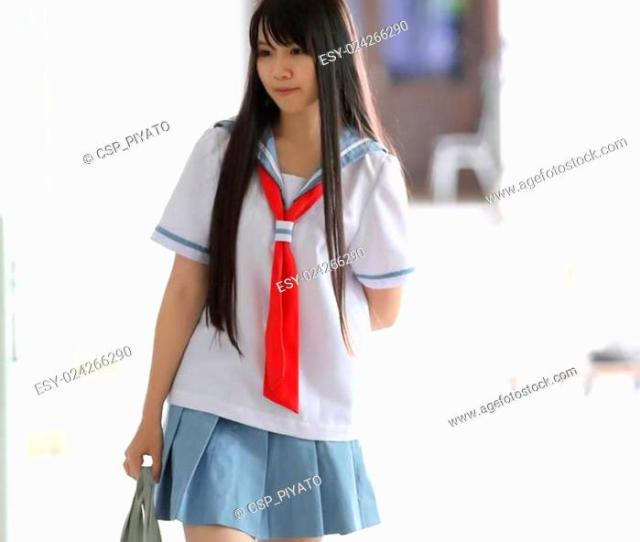 Stock Photo Asian School Girl