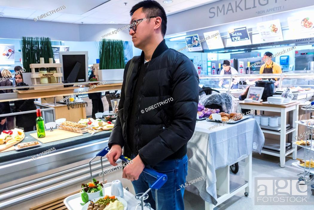 Paris France Chinese Man Shopping In Diy Housewares