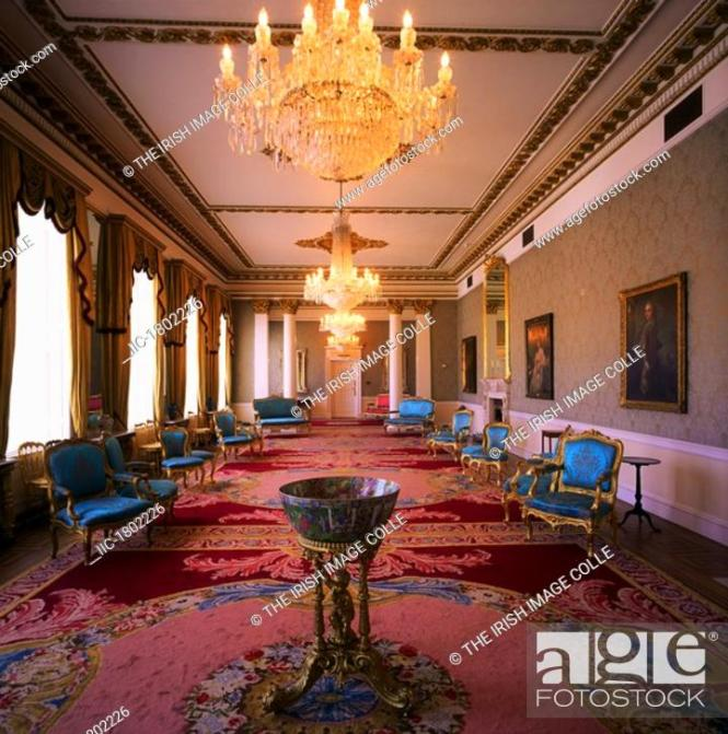 Stock Photo Dublin Castle The Drawing Room State Apartments