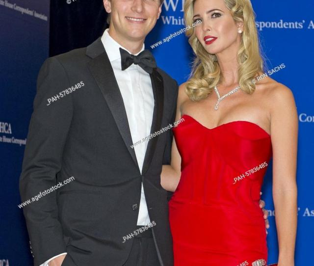 Foto De Stock Jared Kushner Chairman Of Observer Media Group Left And Ivanka Trump Executive Vice President Of Development And Acquisitions At Trump