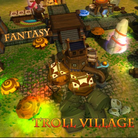 Fantasy Troll Village