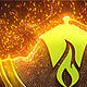Magic Gold Particles Logo Reveal