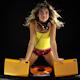 Girl Listening Dancing Retro Audio 3