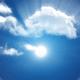Cloud Journey with Sun Light Burst - Side View