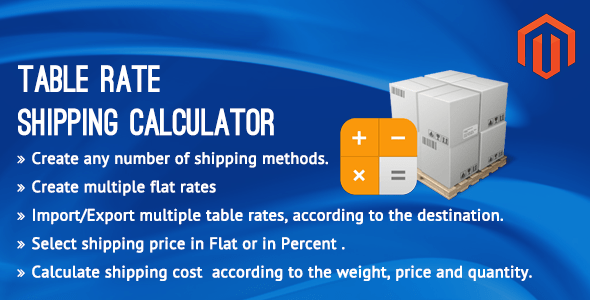 Table Rate Shipping Calculator by Vivacity Infotech