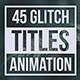 Glitch Geometric Titles & Lower Thirds