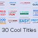 30 Cool Titles