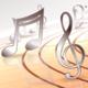 Rotating Musical Notes