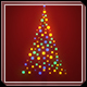 Music Lights on Tree - Christmas Greetings