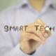 Smart Tech, Man Writing on Transparent Screen