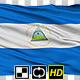 Isolated Waving National Flag of Nicaragua