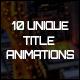 10 Unique Title Animations