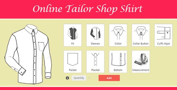 magento tailor shop shirt banner