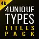 Titles Pack (4 Unique Types)