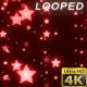 Red Stars Glitter Backrgound
