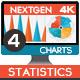 4K NextGen Resizable Statistics Charts & Infographics Pack Four