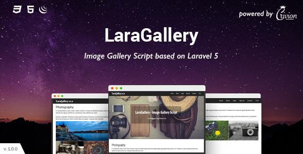 , LaraGallery – Image Gallery Script, Laravel & VueJs, Laravel & VueJs